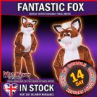Fantastic Fox Adult Animal Mr Mascot Costumes Zoo Farmyard Fancy Dress